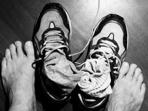 nagu grybelis ir nesvarus batai